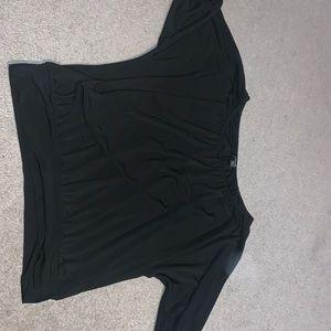 Black express off shoulder top